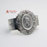 .Medallion Coin Silver Napkin Ring 1860