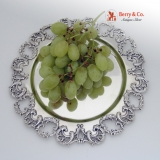 .Grape Serving Tray Open Work Scrill Sterling Silver 1900 FML