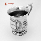 .Coin Silver Christening Cup Burrie 1860