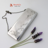 .Russian Silver Purse 84 Standard 1910 Floral Engraved Matte Finish