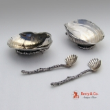 .Aesthetic Gorham Salt Dishes and Spoons Narragansett Sterling Silver 1885
