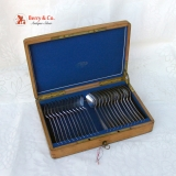 .Dutch Dessert Set 12 Boxed Forks Spoons 833 Silver 1895 No Monograms