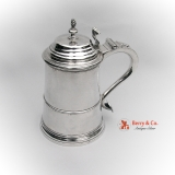 .American Colonial Tankard William Holmes 1750-1780 Boston Coin Silver