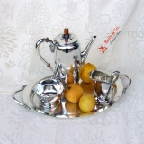 .Northern Lights 4 Piece Demitasse Coffee Set International Sterling Silver 1946