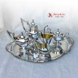 .Plymouth Coffee and Tea Set with Tray Gorham Sterling Silver