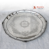 .Large Round Serving Tray 800 Silver Austrian 1890