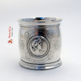 .Medallion Coin Silver Large Napkin Ring 1860