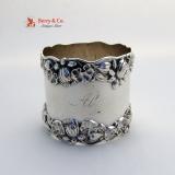 .Pond Lily Napkin Ring Gorham B209 Sterling Silver 1890 Monogram Al