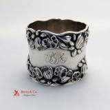 .Pond Lily Napkin Ring Gorham B208 Sterling Silver 1890