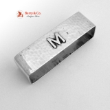 .Arts and Crafts Rectangular Napkin Ring Lebolt Sterling Silver 1930 Monogram M