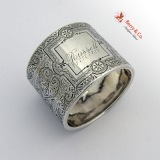 .Arabesque Engraved Napkin Ring Coin Silver 1880 Russell
