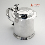 .Very Imporntant American Colonial Coin Silver Tankard Adrian Bancker 1750 New York