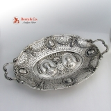 .Renaissance Revival Serving Dish 800 Silver Portrait Medallion s