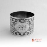 .Persian Rosette Napkin Ring Coin Silver 1875 JHI