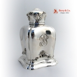 .Antique Domed Tea Caddy Sterling Silver 1890