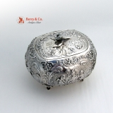 .Ornate Bellied Sugar Box Figural Puty Baroque  930 Sterling Silver