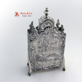 .Unusual Antique Tea Caddy Dutch Sterling Silver 1890