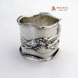 .Lobster Mermaid Napkin Ring Art Nouveau Sterling Silver 1900 Dorothea Matthews