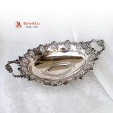 .Ornate Baroque Small Center Piece Bowl 800 Silver c.1890