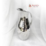 .Mexican Modernist Water Pitcher Sterling Silver 1960