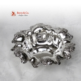.Ornate Rose Design Serving Bowl Sterling Silver International 1910