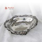 .Ornate Pierced Center Piece Bowl Sterling Silver Durgin 1890
