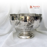 .Chinese Export Silver Large Punch Bowl WOSHING 1860 Shanghai