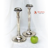 .Antique Belgian Pair of Candlesticks 900 Silver 1830