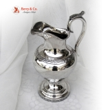 .American Coin Silver Large Cream Pitcher 1860