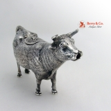 .Figural Cow Creamer Sterling Silver 1900