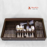 .Renaissance Dinner and Luncheon Flatware Set 800 Silver 1890 Bruckmann