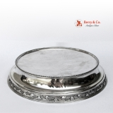 .Round Pedestal Plateau Cake Stand Sterling Silver Gale Dominick and Haff 1870