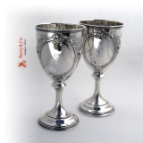 .Pair of Goblets Sterling Silver Wood and Hughes 1890