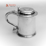 . American Colonial Tankard Richard Van Dyck 1740-1750 New York City Coin Silver