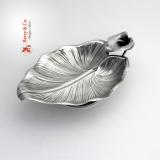 .Calla Lily Serving Bowl Whiting Sterling Silver 1880 No Monogram