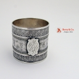 .Arabesque Napkin Ring Coin Silver 1875 Anaretta Tyler