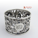 .Dragon Napkin Ring Chinese Export 1900 Sterling Silver