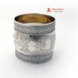 .Aesthetic Napkin Ring Coin Silver 1870