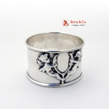 .Cupid Wishbone Napkin Ring Sterling Silver 1900