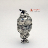 .18th Century Spice Box Continental 800 Silver Bird Finial
