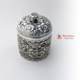 .Tiffany and Company Floral Repousse Box Sterling Silver 1884