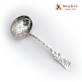 .Victorian Sugar Sifter England Sterling Silver 1881