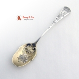 .Chrysanthemum Ice Cream  Spoons 6 Sterling Silver Gorham 1885