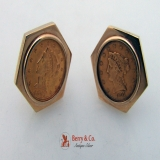 Two and a Half Dollar Gold Coin Cufflinks