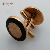 Onyx and Yellow Gold Cufflinks 1960s