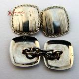 Art Deco 14K White Gold Cufflinks 1930s