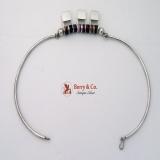 Modernist Necklace Sterling Silver Sugilite Tinta Ecuador 1960
