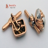 Retro 14 K Rose and White Gold 1950s