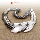 Fish Bone Necklace Sterling Silver Los Lallesteros Taxco