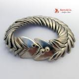 Fish Bone Bracelet Sterling Silver Los Lallesteros Taxco